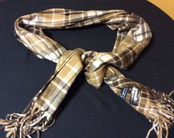 Vintage Men's Plaid Cejon Scarf Made in Italy