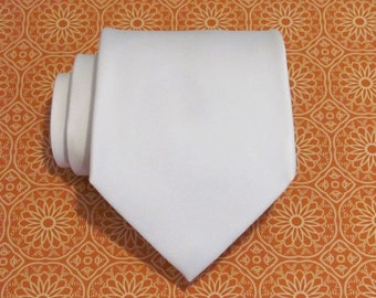 Mens Ties Ivory Cream Silk Necktie With *FREE* Matching Pocket Square Set