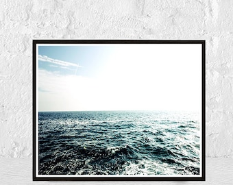 Ocean Photography Print, Ocean Print, Ocean Waves Art Print, Ocean Wall Art, Blue Wave Print, Water Print, Ocean Art, Coastal Print