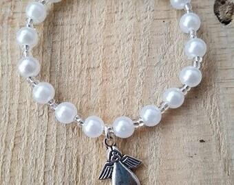 Bracelet Angel's Wings, baptism of communion