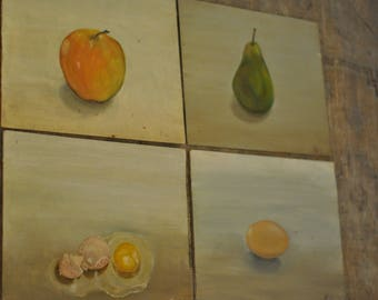 Vintage Signed Dutch Still Life Paintings on Board