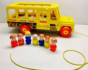 Vintage Fisher Price School Bus for Little People 192