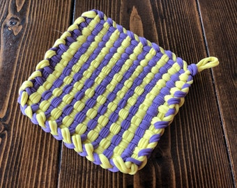 Purple and Yellow Nylon Potholder