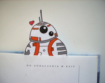 bb8 Star Wars Force Awakens bookmark -  droid