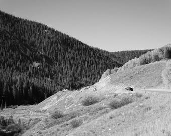 Fine Art Photography | Mountain Road Black and White  Print | Wall Art