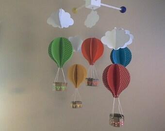 Hot Air Balloon Mobile/Nursery Decor