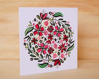 Floral Card - Illustrated Card | Floral Greeting Card | Floral Stationery