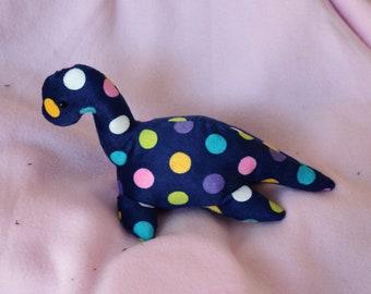 Polka Dot Baby Nessie Plush MADE TO ORDER // Cute Kawaii Loch Ness Monster Cryptid Plesiosaur Dinosaur Colorful Plushie Stuffed Animal