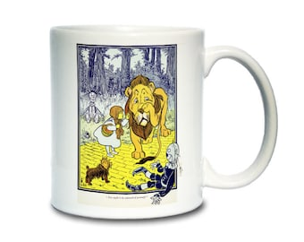 Coffee Mug; Dorothy Meets The Cowardly Lion, From The First Edition. Wonderful Wizard Of Oz
