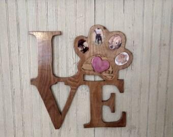 Custom pet memorial, Wood wall decoration, Personalized pet wood wall decoration with photos you provide, Pet love, Pet frame, Dog, Cat
