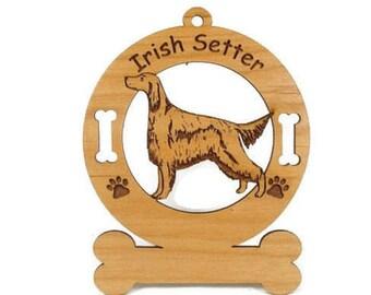 3370 Irish Setter Standing Personalized Dog Ornament - Free Shipping