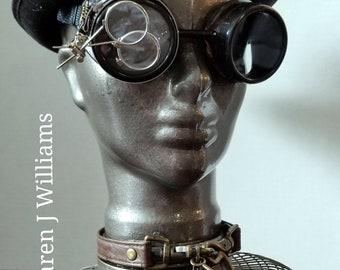 Steampunk glass head