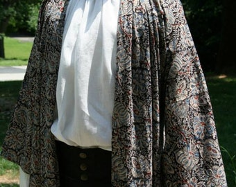 Mens 18th Century/ Regency / Federalist  Era Banyan/ MADE TO ORDER