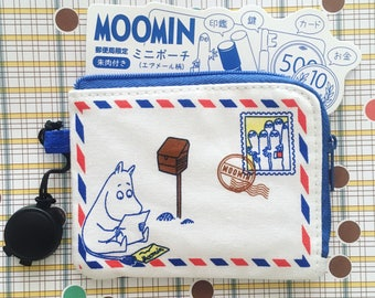 Kawaii Moomin pouch with stamper ink for keeping your stamper or makeup from Japan, Limited edition at Japan's postoffice