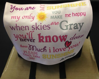 You are my Sunshine_Diaper Bag_Personalize this bag with Photos, Text or Both