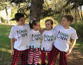 christmas pajamas; pajamas for family; family matching; Cousin; cousin shirts; cousin crew; COUSINS make the BEST FRIENDS;