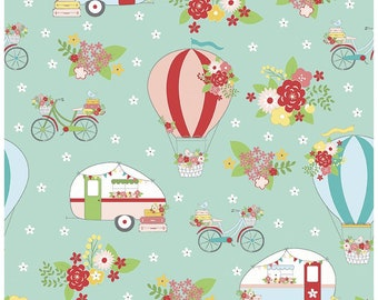 Vintage Adventure~Camping Cotton Fabric By Riley Blake