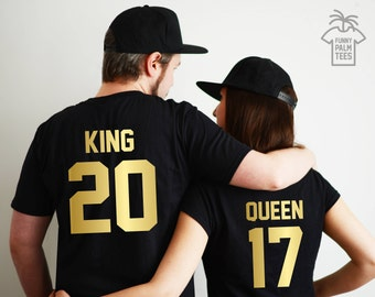 King and Queen shirts couple t shirt couple tees King Queen couple tshirts funny matching couple shirts wedding gift anniversary gift
