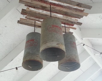 Vintage funnel style chandelier