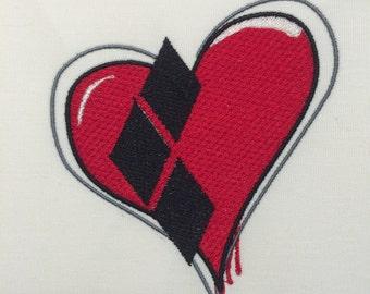 Harley Heart Machine Embroidery Design 4x4