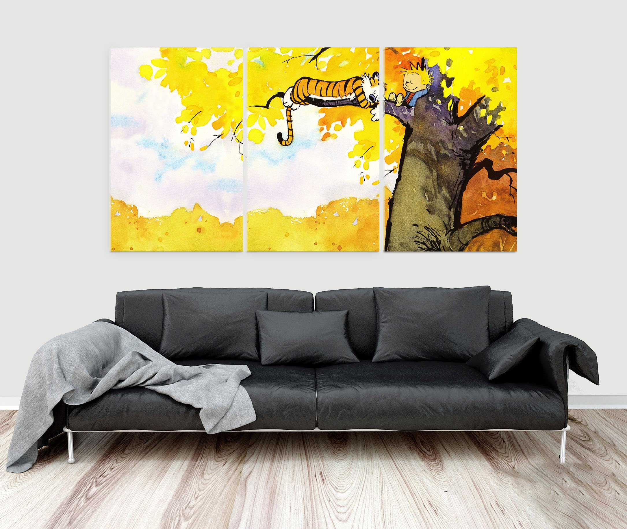 Calvin and Hobbes Canvas Print Wall Art Poster 3 Piece / 3