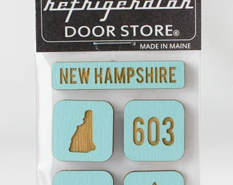 Refrigerator Magnet. Fridge Magnets. Kitchen Magnets. Kitchen Decor. New Hampshire.