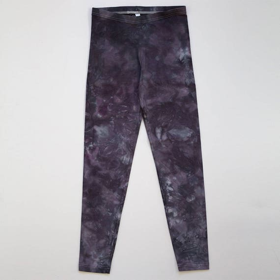 L Dark Grey Crystal Wash Leggings