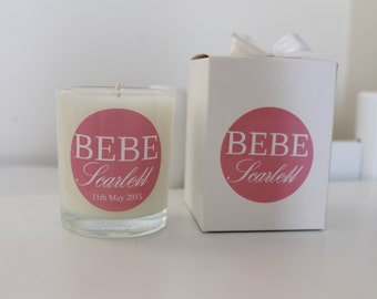 Baby Shower & Nursey Decor BEBE Collection Soy Candles