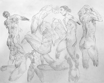 Life Model ~ Gesture Drawing | . b M p_001 |