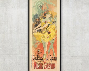 Beautiful Era vintage french poster by Jules Cheret, P053