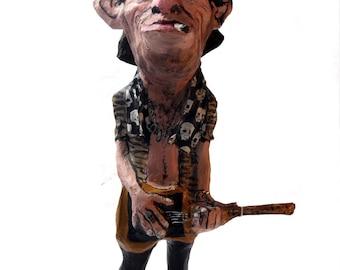 Keith Richards paper mache figure
