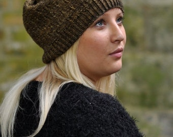 Woodland Slouch Hat PDF knitting pattern (instructions)