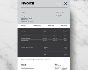 Invoice Template Etsy - Invoice format word document download online bead stores