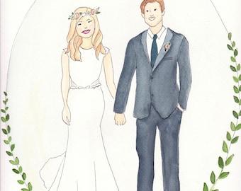 Custom Wedding Portrait (Bride & Groom)