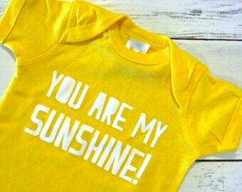 You are my sunshine baby one piece! Sun baby. Sunshine infant. Bodysuit