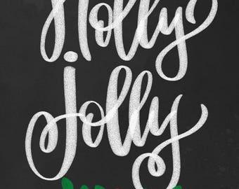holly jolly printable