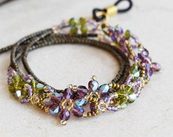 Flower Eyeglasses Chain, Eyeglass Holder Necklace, Reading Glasses Chain, Eyeglass Chain, Glass Cord, Glass Lanyard / 29 inch / EGHC-1005