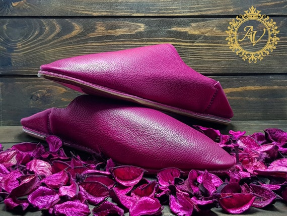 Sheepskin Slippers Women Slippers Moroccan Moroccan Pink Suede Handmade Babouche Leather Pointed Babouche Slippers YY8zqC