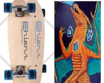 Custom Painted Pokemon Penny Board Mini Skateboard Custom Longboard COMPLETE