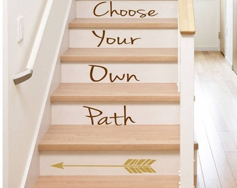 Stair Decal Choose Your Own Path