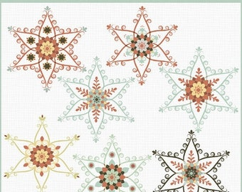 50%OFF Nordic snowflakes clipart, Christmas clipart, Winter clipart, folk clipart for commercial use, royalty free clipart, P196