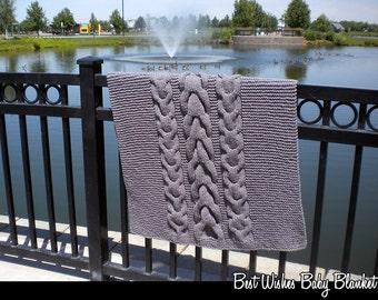 Best Wishes Baby Blanket Knitting Pattern