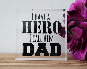 Fathers day acrylic block