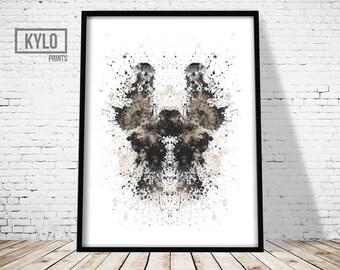 Rorshach Print, Abstract Poster, Ink Blot Print, Home Wall Art, Ink Blot Art, Office Decor, Abstract Print, Minimalist Art, Modern Print