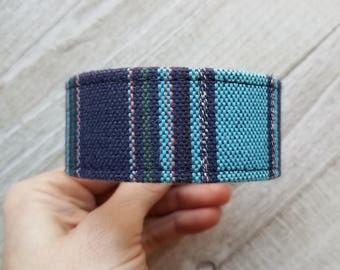 custom handstamped belt cuff / handstamped / belt cuff bracelet / upcycled / repurposed
