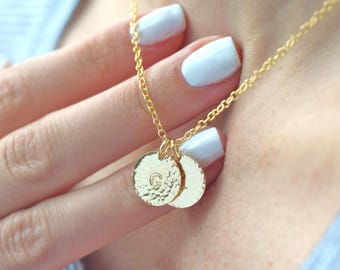 Monogram jewelry personalized initial charm necklace with chain gold filled gifts for her