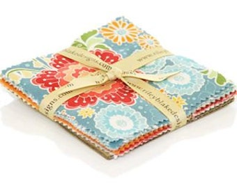 5 inch  Flutter Cotton charm pack(24)  Fabric by Riley Blake