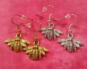 Bee Earrings - Pick Your Color