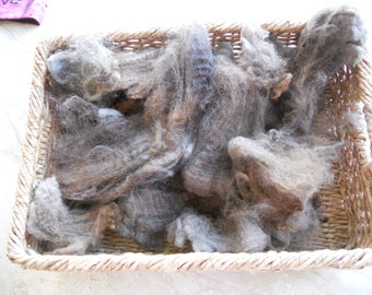 """Clearance -Gorgeous Grays 6""""-8"""" 1 LB. Lt- Charcoal Gray, Variegated, Raw, Unwashed Fleece,"""