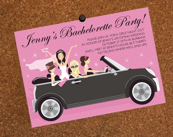 Digital File / Bachelorette Party Invitation / Birthday Invitation / Convertible / Girls Just Wanna Have Fun